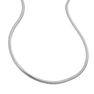 Kette 0, 9mm runde Schlangenkette Silber 925 45cm