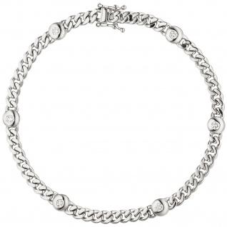 Armband 585 Gold Weißgold 6 Diamanten Brillanten 0, 30ct. 19 cm Weißgoldarmband