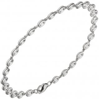 Armband 585 Gold Weißgold 27 Diamanten Brillanten 0, 85ct. 18 cm Tennisarmband