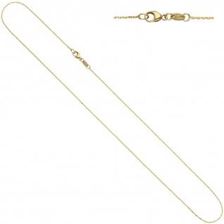 Ankerkette 585 Gelbgold diamantiert 0, 6 mm 42 cm Gold Kette Halskette Goldkette