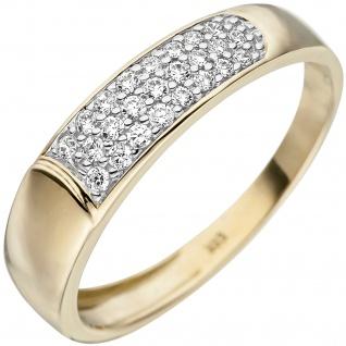 Damen Ring 333 Gold Gelbgold 24 Zirkonia Goldring
