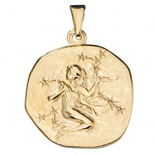 Anhänger Sternzeichen Jungfrau 333 Gold Gelbgold Sternzeichenanhänger - Vorschau