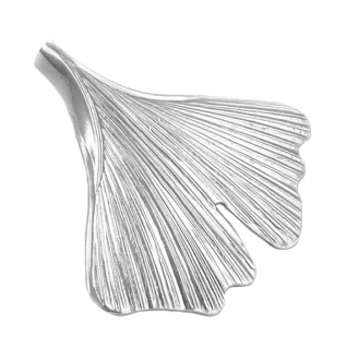 Anhänger 33x34mm Ginkgo-Blatt glänzend Silber 925