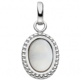 Anhänger 925 Sterling Silber 1 Perlmutt-Einlage oval