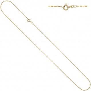 Ankerkette 585 Gelbgold diamantiert 1, 6 mm 60 cm Gold Kette Halskette Goldkette