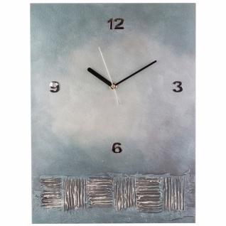 K Edition K1016 Limitierte Designer Wanduhr Quarz Handarbeit Unikat grau blau
