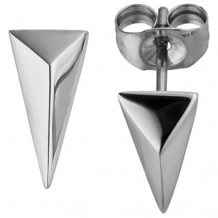 Ohrstecker dreieckig aus Edelstahl Ohrringe Dreieck
