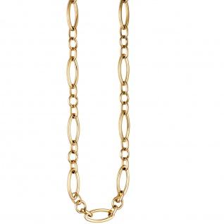 Collier / Halskette aus Edelstahl gold farben beschichtet 47 cm Kette - Vorschau 2