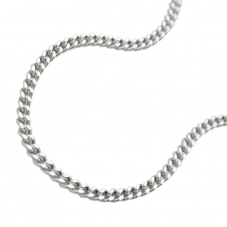 Kette 1, 7mm Flachpanzerkette 2x diamantiert Silber 925 60cm