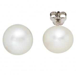 Ohrstecker 925 Sterling Silber 2 Süßwasser Perlen Ohrringe Perlenohrstecker
