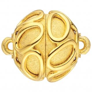 Kettenschließe Magnet-Schließe 925 Silber gold vergoldet Kettenverschließe