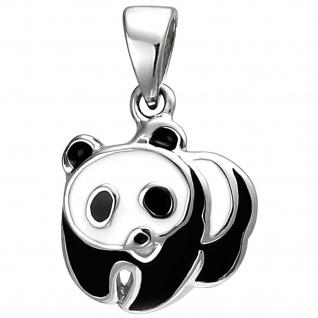 Kinder Anhänger Panda 925 Sterling Silber Silberanhänger