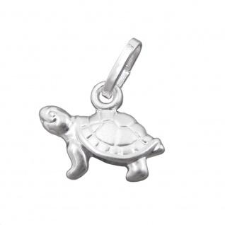 Anhänger 8x11mm Schildkröte Silber 925