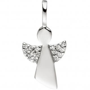 Anhänger Engel 925 Sterling Silber mit Zirkonia Silberanhänger Schutzengel - Vorschau