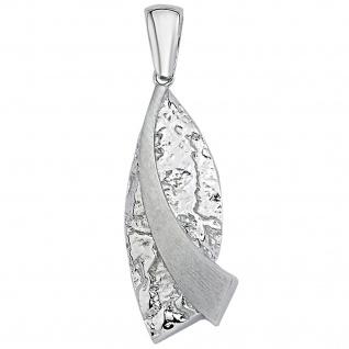 Anhänger 925 Sterling Silber matt gehämmert Silberanhänger