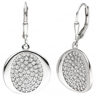 Ohrhänger 925 Sterling Silber 110 Zirkonia Ohrringe Boutons Silberohrringe