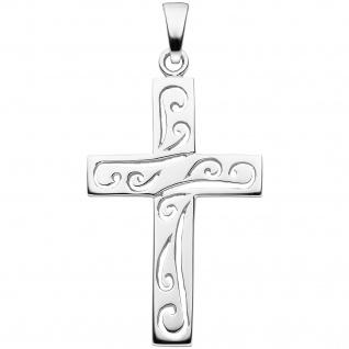 Anhänger Kreuz 925 Sterling Silber Kreuzanhänger Silberkreuz - Vorschau