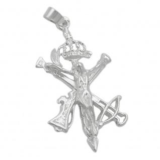 Anhänger 31x17mm Legionärs-Kreuz glänzend Silber 925