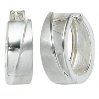 Creolen 925 Sterling Silber mattiert Ohrringe Silberohrringe Silbercreolen