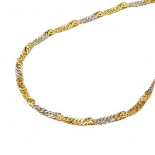 Armband 1, 8mm Singapur bicolor 14Kt GOLD 19cm