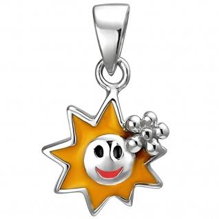 Kinder Anhänger Sonne 925 Sterling Silber Silberanhänger