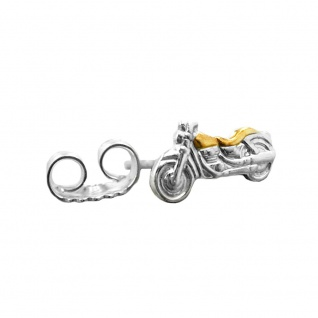 Stecker 8x4mm Motorrad bicolor 1 Stück Silber 925