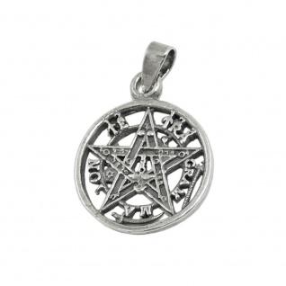 Anhänger 15mm Pentagramm Amulett geschwärzt Silber 925