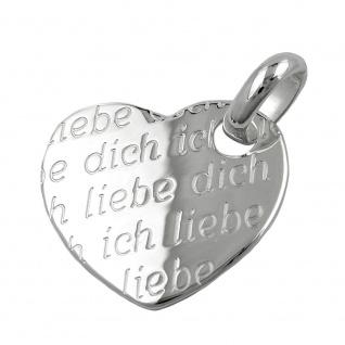Anhänger 20x22mm Herz -Ich liebe Dich- Silber 925