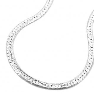 Kette 2, 2mm Schlange flach matt diamantiert 925 42cm