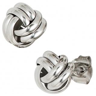 Ohrstecker Knoten 925 Sterling Silber rhodiniert Ohrringe Silberohrstecker