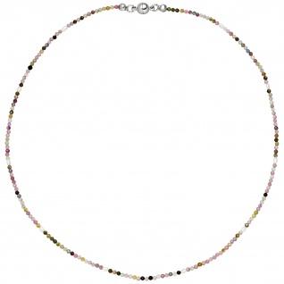 Halskette Kette mit Süßwasser Perlen und Turmalin 46 cm