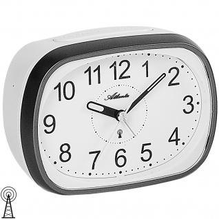 Atlanta 1793/4 Wecker Funk Funkwecker grau weiß mit Licht Snooze