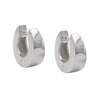 Creole 13x5mm Klappscharnier Trapezform glänzend Silber 925