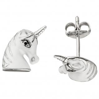 Kinder Ohrstecker Einhorn 925 Sterling Silber Ohrringe Kinderohrringe