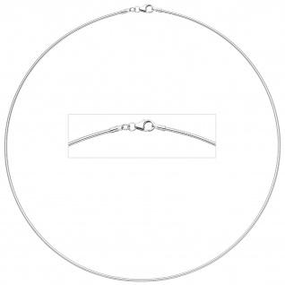Halsreif 925 Sterling Silber 1, 1 mm 40 cm Silberkette Karabiner
