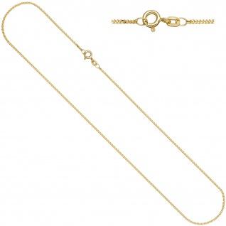 Panzerkette 925 Sterling Silber gold vergoldet 1, 3 mm 42 cm Kette Halskette
