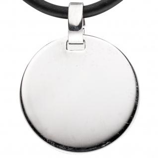 Anhänger Gravur Gravurplatte rund 925 Sterling Silber rhodiniert - Vorschau 2