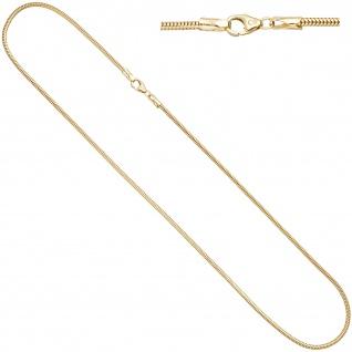 Schlangenkette aus 585 Gelbgold 2, 4 mm 45 cm Gold Kette Halskette Goldkette