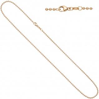 Kugelkette 585 Rotgold 2, 0 mm 45 cm Gold Kette Halskette Rotgoldkette Karabiner