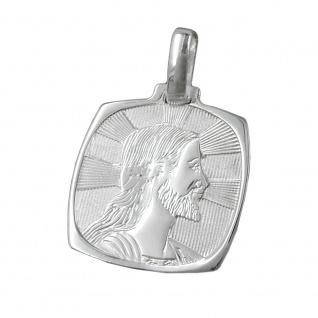 Anhänger 19x17mm Bildnis Jesus glänzend Silber 925