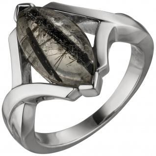 Damen Ring 925 Sterling Silber 1 Turmalinquarz