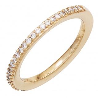 Damen Ring 585 Gold Gelbgold 26 Diamanten Brillanten 0, 21ct. Goldring