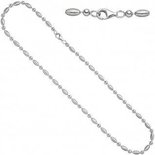 Halskette Kette 925 Sterling Silber mattiert 45 cm Silberkette Karabiner