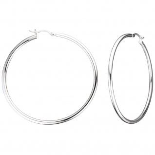Creolen rund groß 925 Sterling Silber Ohrringe Durchmesser 55 mm