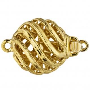 Kettenschließe Schließe 585 Gold Gelbgold mattiert Kettenverschluss