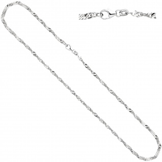 Singapurkette 925 Silber 2, 9 mm 45 cm Halskette Kette Silberkette Karabiner