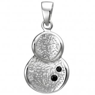 Anhänger 925 Sterling Silber 2 Zirkonia Silberanhänger
