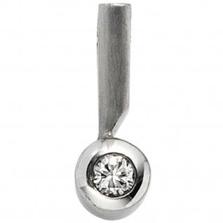 Anhänger 950 Platin teil matt 1 Diamant Brillant 0, 16ct. Platinanhänger