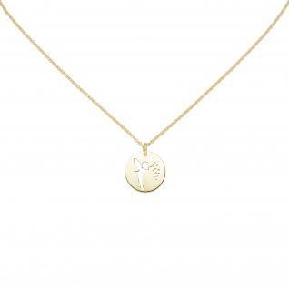 Collier Fee 925 Sterling Silber gold vergoldet 48 cm Silberkette Karabiner