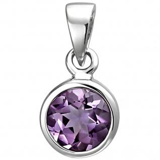 Anhänger 925 Sterling Silber 1 Amethyst lila violett